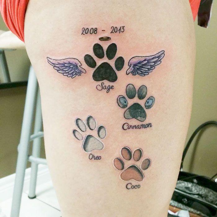 Dog Tattoo Pawprint Tattoo Print Tattoos Dog Tattoos
