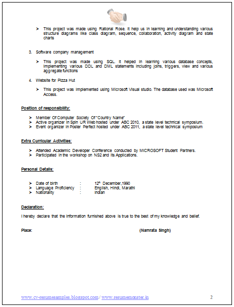 Examples Of Great Resumes Page 2 Great Resumes Resume Learning