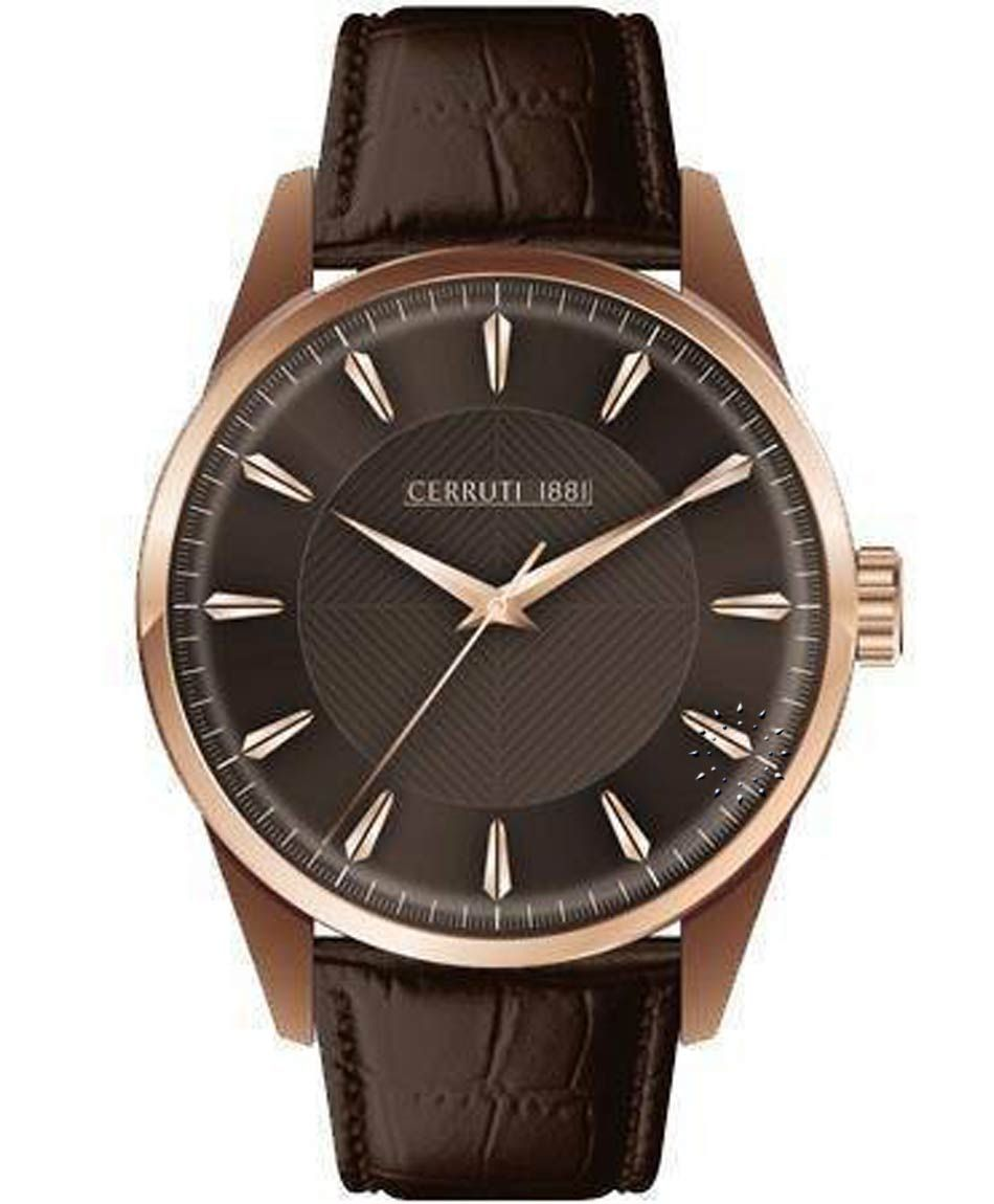 a2358fb522 CERRUTI WATCHES - CERRUTI 1881 Classic Brown Leather Strap. Find this Pin  and more ...