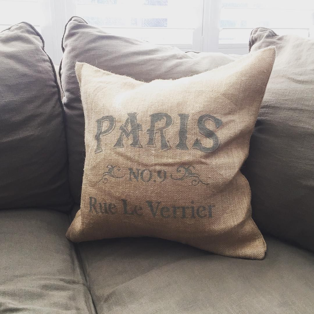 Burlap Decor Pillows #burlap #pillows #decor #vintage