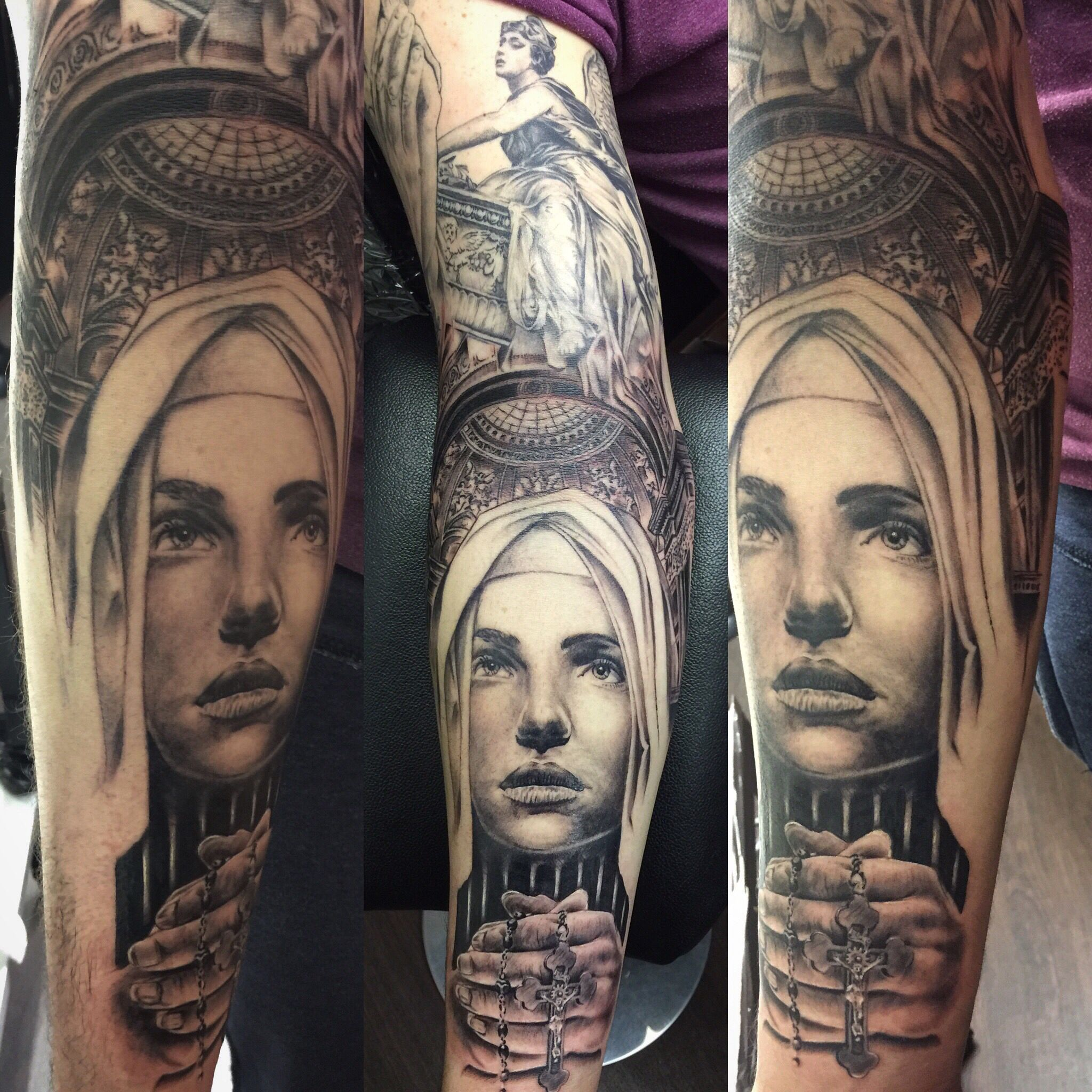 Religious sleeve taking shape now hope you like it :)