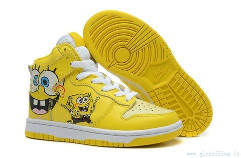Width - D - Medium | Nike SB Dunk SpongeBob SquarePants Pro SB High Tops For Family