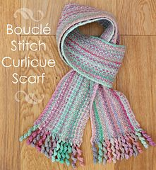 Photo of Bouclé Stitch Curlicue Scarf pattern by Craft me Happy