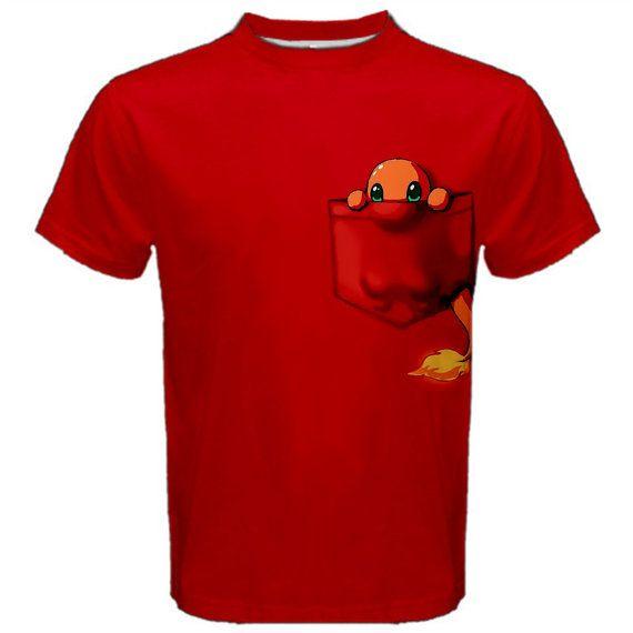 19ac900c Pokemon Shirt, Charmander, Anime, Manga, Geeky, Nerdy, T-Shirt, Red Tee,  Cosplay, Pocket Monster, Men's Shirt, Women's TShirt, Kawaii