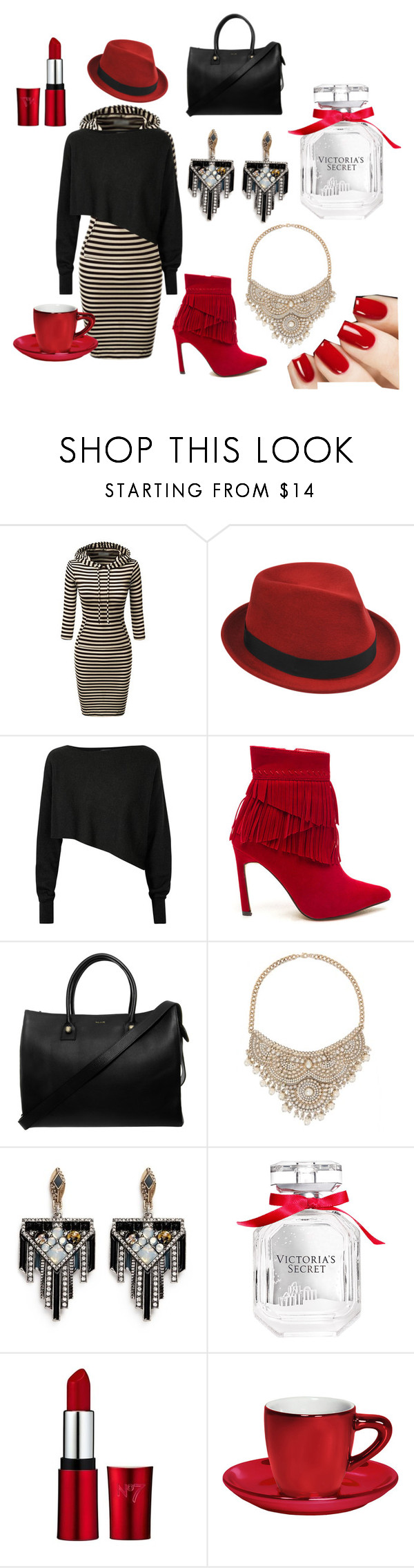 """""""In the Holiday mood"""" by lovehermadly75 ❤ liked on Polyvore featuring Stetson, Crea Concept, Paul & Joe, Bebe, Lulu Frost, Victoria's Secret, Bialetti, women's clothing, women and female"""
