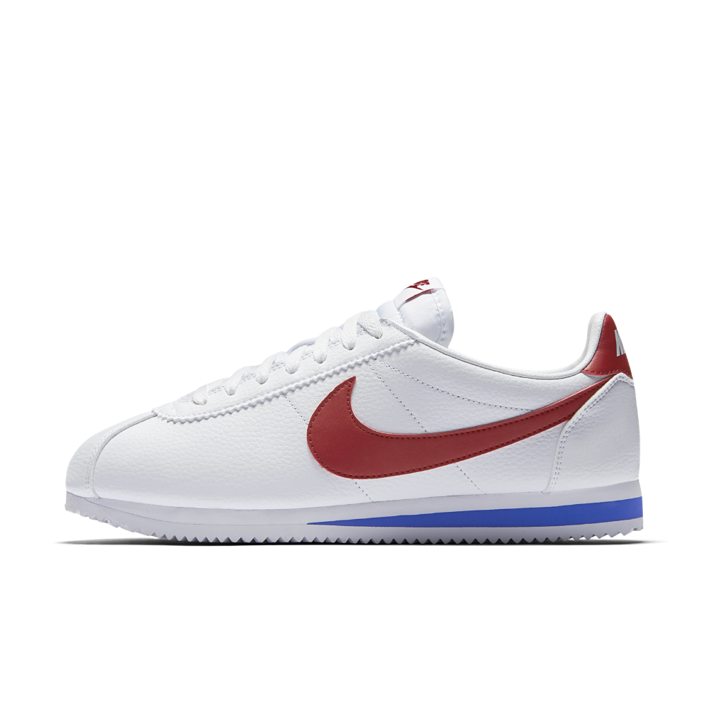big sale fda92 68b23 Nike Classic Cortez Leather Mens Shoe Size 10.5 (White)