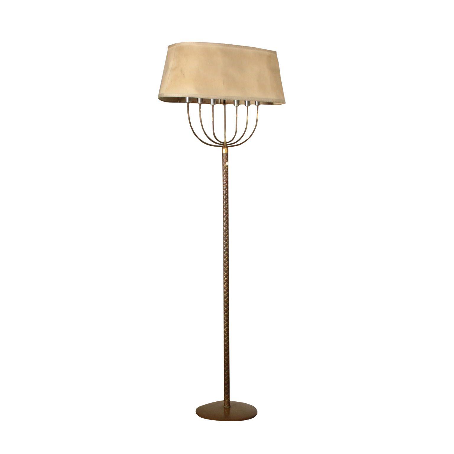 Stehlampe Aus Messing Vintage Italien 40er 50er Jahre Brass