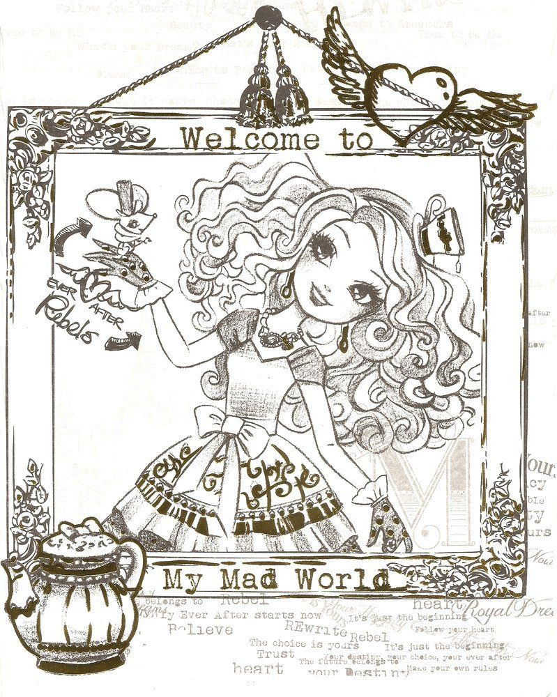 Ever after high coloring games online - Coloring Pages Ever After High Thronecoming Ever After High Color Page 8
