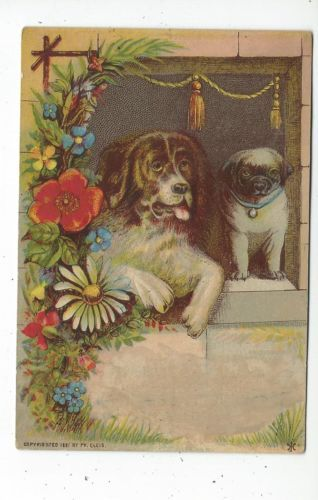 Printer's Sample Trade Card Dogs Copyright 1881 | eBay