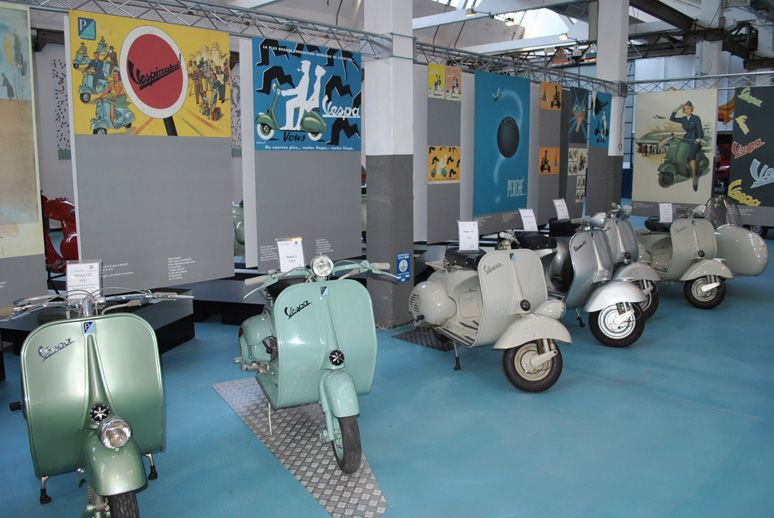 "PIAGGIO MUSEUM tells the #history of #products that represent excellence in #creativity and technological competence, while exalting the entrepreneurial capabilities of the people who designed and produced them. First production of #Vespa #scooters (1946-1968). First on the left Vespa 125 of 1951 used for the famous ""Vacanze Romane"" movie. Exhibit in #Piaggio #Museum Pontedera #Tuscany #Italy Discover more! http://www.museopiaggio.it/en/index_en.html"