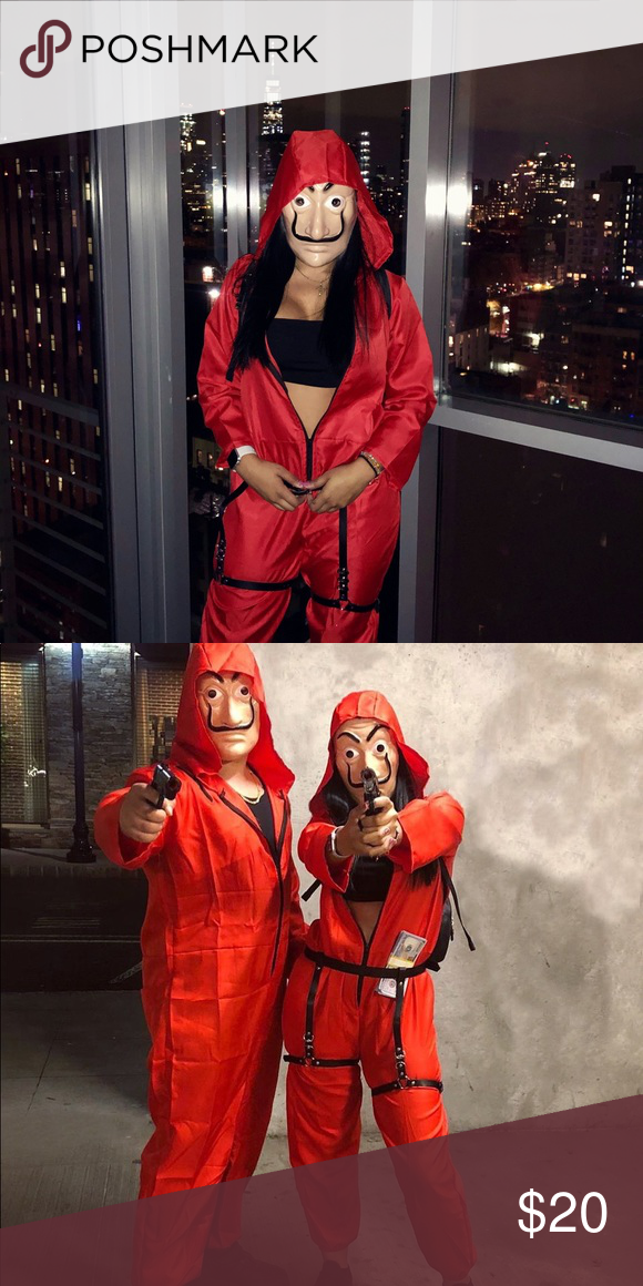 Halloween 2020 Money Unisex Costume for Money heist Coverall Jumpsuits in 2020