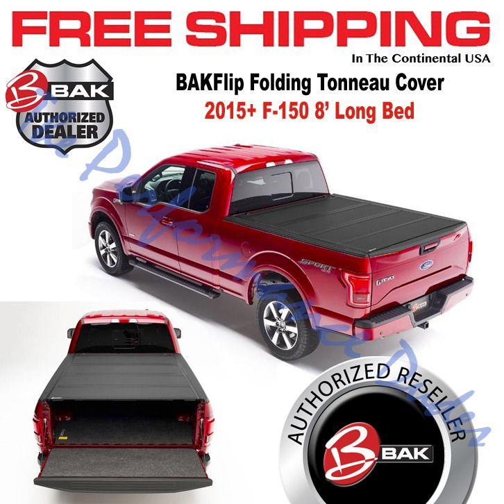Bakflip Mx4 Hard Folding Tonneau Cover 2015 2020 F 150 8 Long Bed 448328 Bak Tonneau Cover Folding Tonneau Covers Hard Folding Tonneau Cover