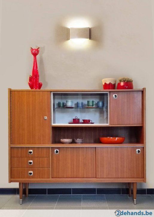 Hoge Dressoir Kast.Hoge Dressoir Sideboard Vintage Retro Kast 60 Deens Design Vintage