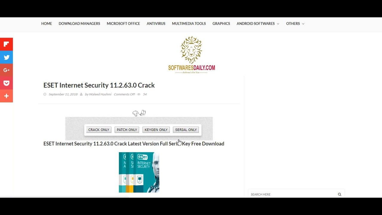 Eset Internet Security 11 2 63 0 Internet Security Internet Security