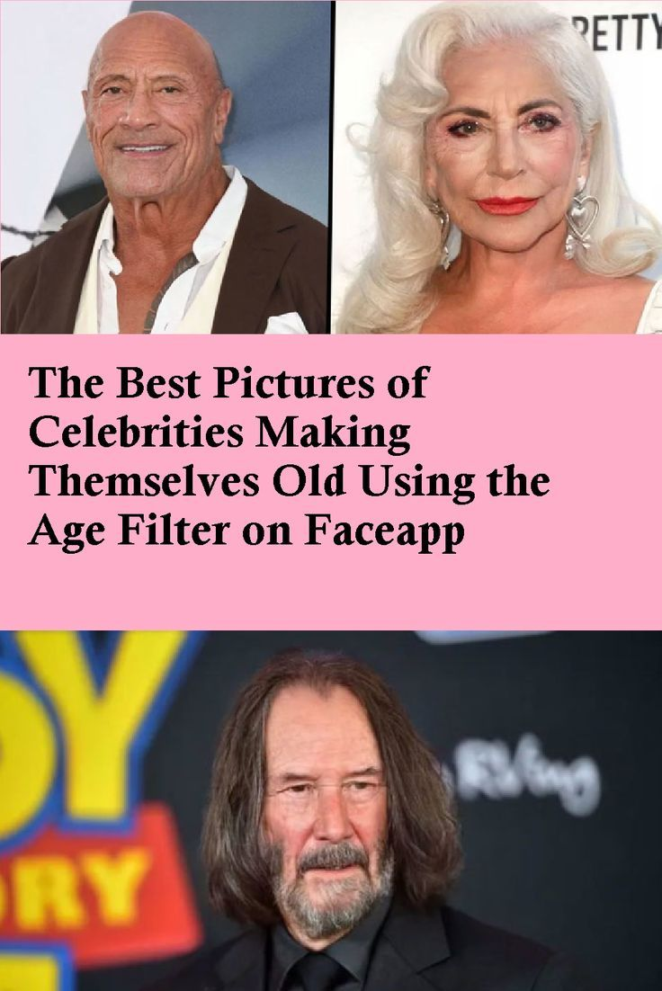 The Best Pictures of Celebrities Making Themselves Old