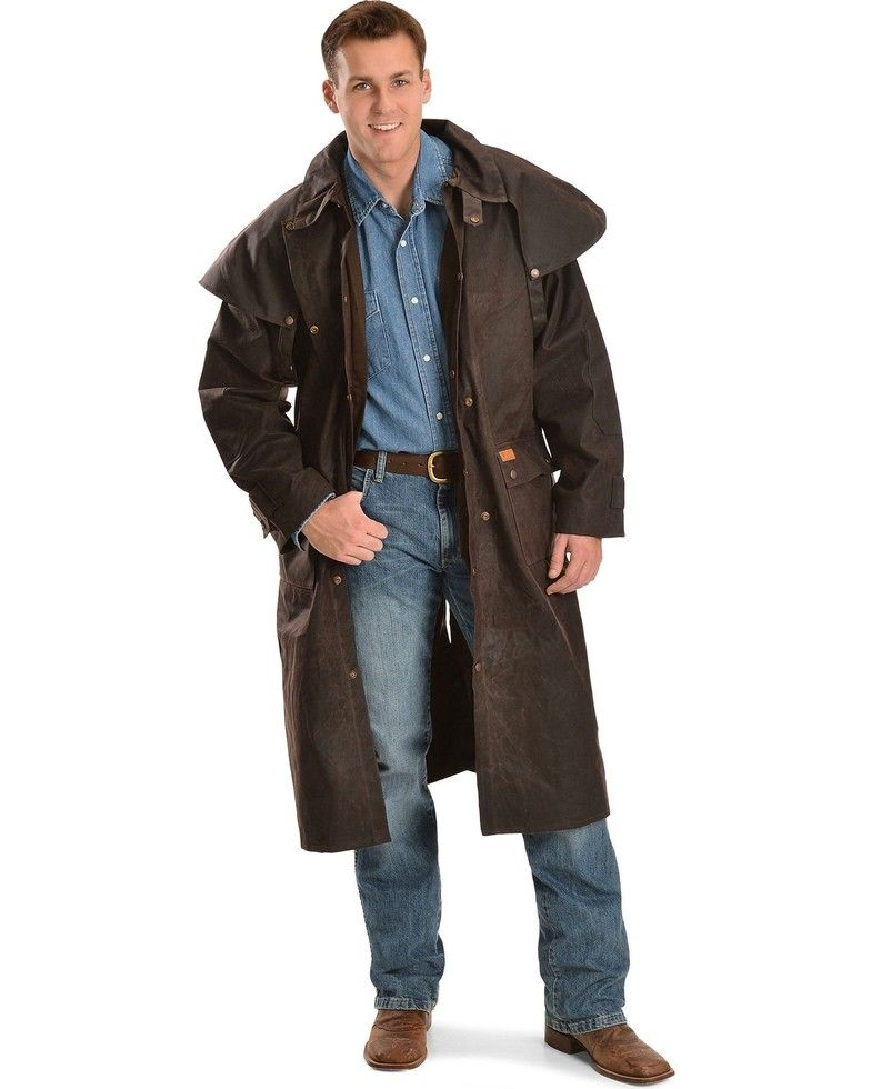 Outback Trading Co Men S Long Oilskin Duster Minimalist Fashion Men Mens Fashion Casual Smart Casual Men