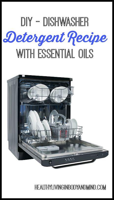 DIY Dishwasher Detergent Recipe with Essential Oils