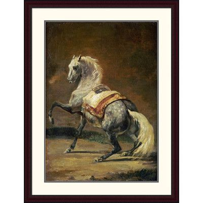 """Global Gallery 'Dappled Grey Horse' by Theodore Gericault Framed Painting Print Size: 44"""" H x 33.39"""" W x 1.5"""" D"""