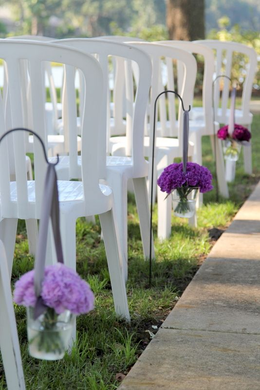 shepherds hooks for weddings | Shepherd\'s hooks lined the aisle with ...
