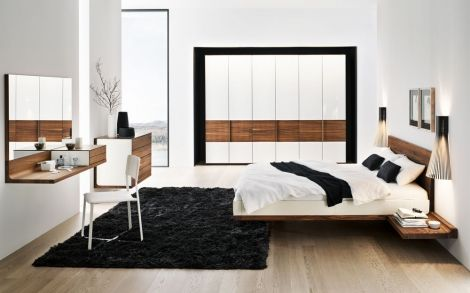 Schlafzimmer von TEAM7 Bett und Schrank Team7 1 Mobilya - schlafzimmer bett modern