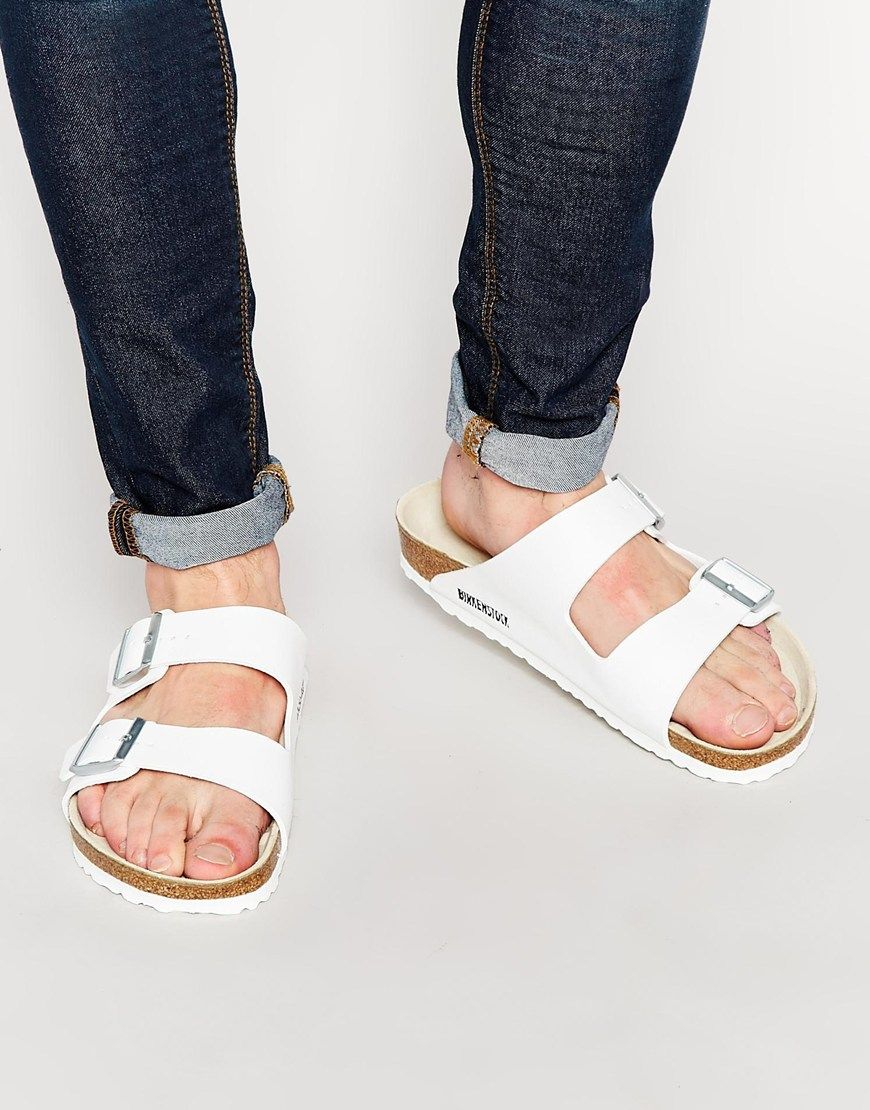 22b3f65a6a5f44 Like this we have more Birkenstock Arizona Sandals - White - http   www