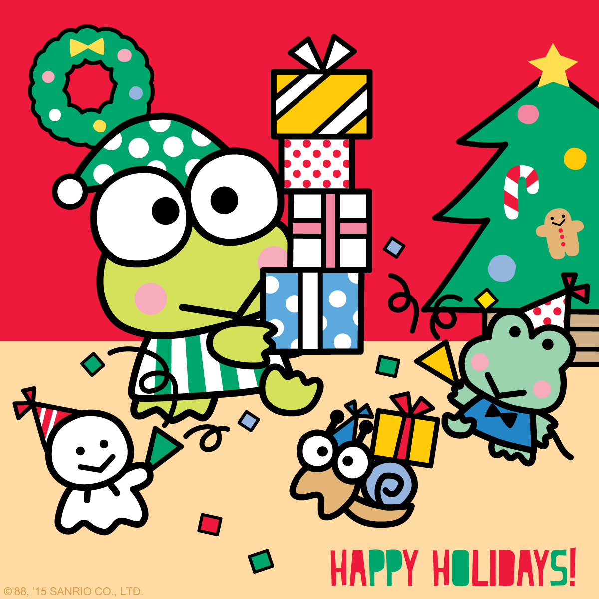 Keroppi Wallpaper Wallpapers: Happy Holidays From Keroppi And All Of His Friends At