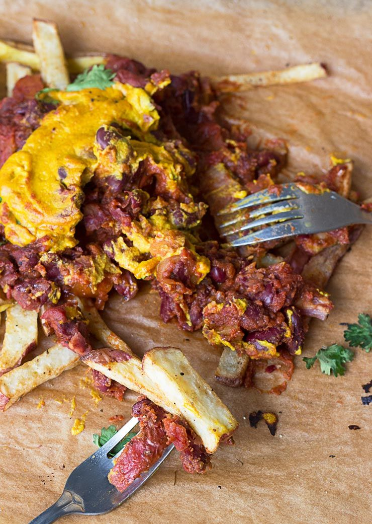 Vegan Chili Cheese Fries