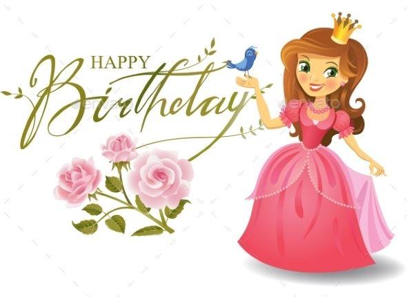 Happy Birthday Princess Greeting Card Happy Birthday Princess Birthday Wishes For Kids Birthday Wishes Girl