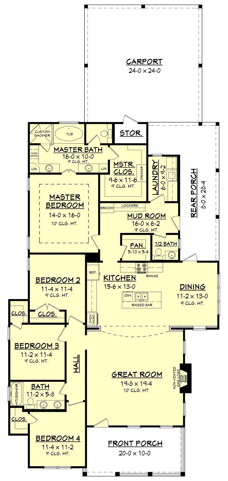 Cherrywood house plan mudroom bath and bedrooms
