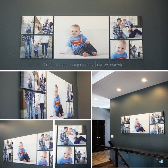 Symmetrical Seven Canvas Layout For Family Portraits Http