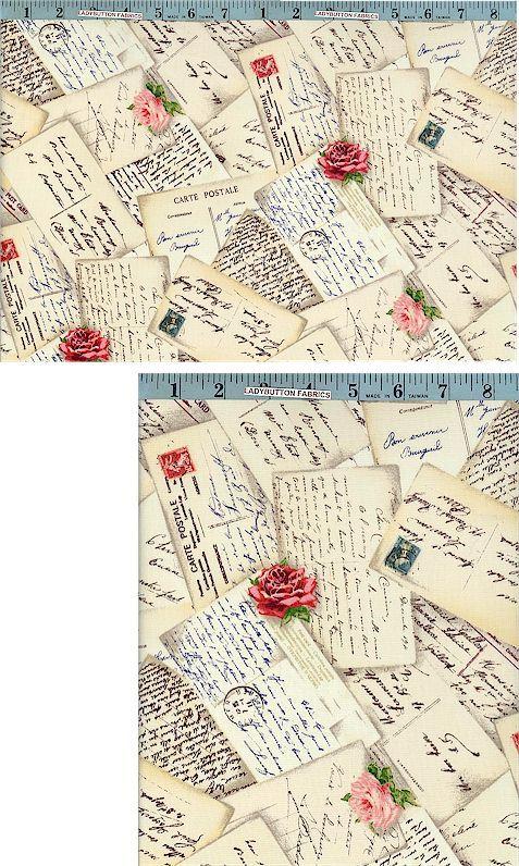 French Post, Postcards, Michael Miller, Michael Miller Fabrics, Ladybutton Fabrics $10.95/yard