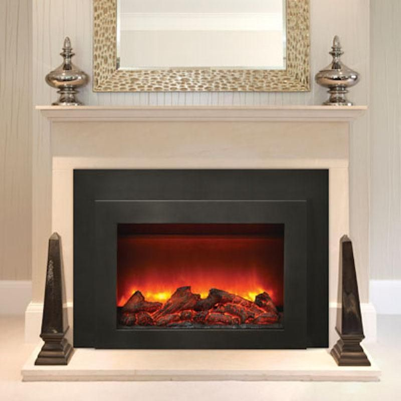 Sierra Flame Flush Mount 30 Inch Electric Fireplace Insert In