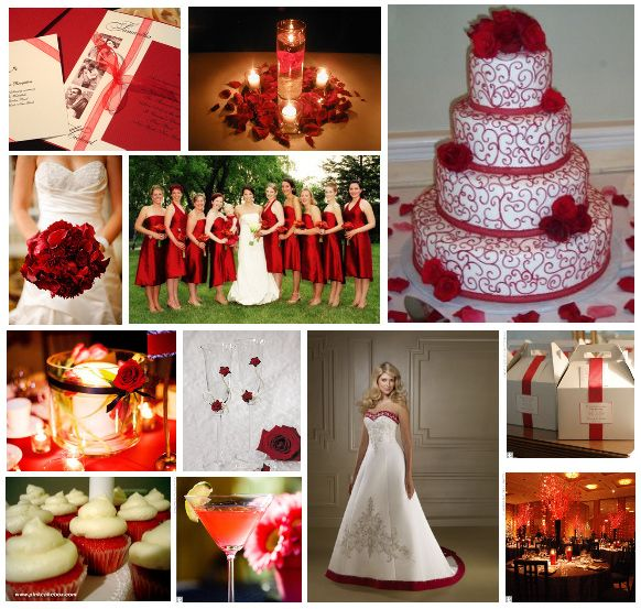 To Be White Or Red Wedding Theme Inspiration Dresses 1