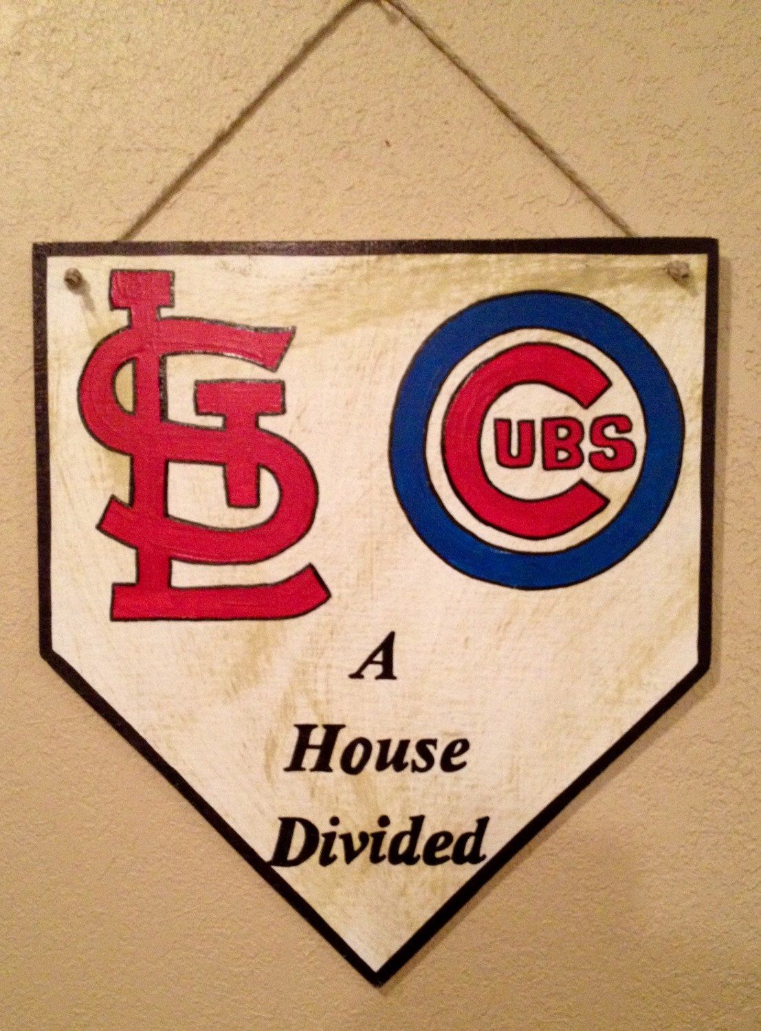 St Louis Cardinals Sign Chicago Cubs Sign Home Plate Sign Etsy Chicago Cubs Baseball Decor Baseball Signs