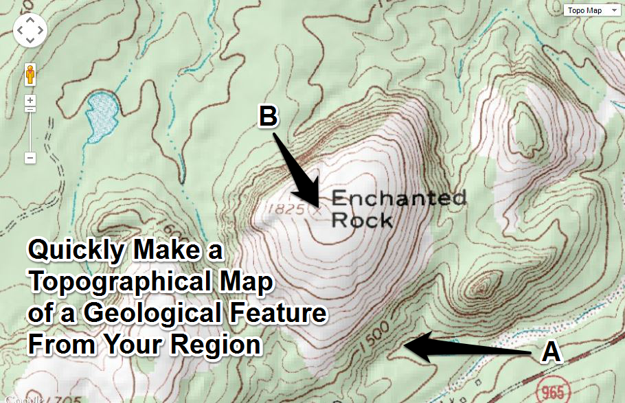 topographic map of my area Easily Create Topographic Maps For Geology In Your Area Topographic Map Middle School Science Activities Geology