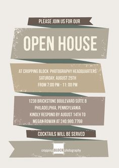 Open House Invitation   Google Search  Open House Templates