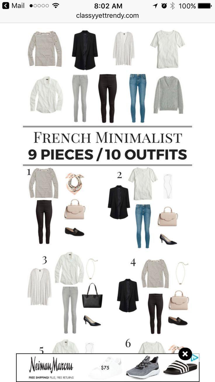 french minimalist capsule wardrobe #travelwardrobesummer
