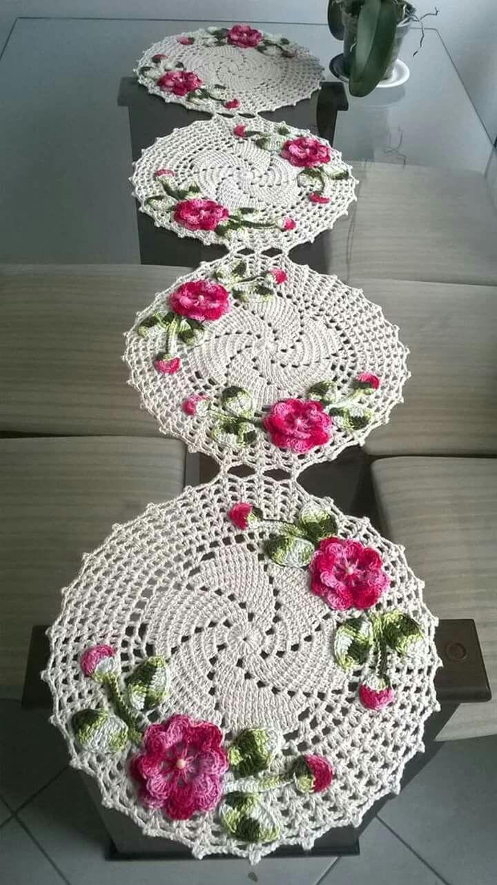 Pin de leda wendler en crochet pinterest mesas for Centros de mesa de ganchillo