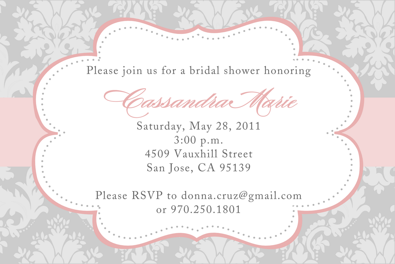Wedding Shower Invitation Templates Free Make Your Own