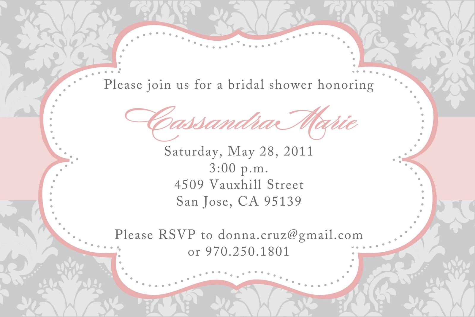 wedding shower invitation templates free | Bridesmaids stuff ...