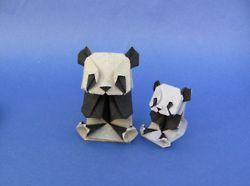Panda big and small - Origami by Eyal