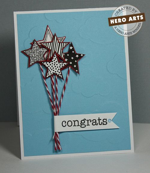 stars and bakers twine. simple and cute!