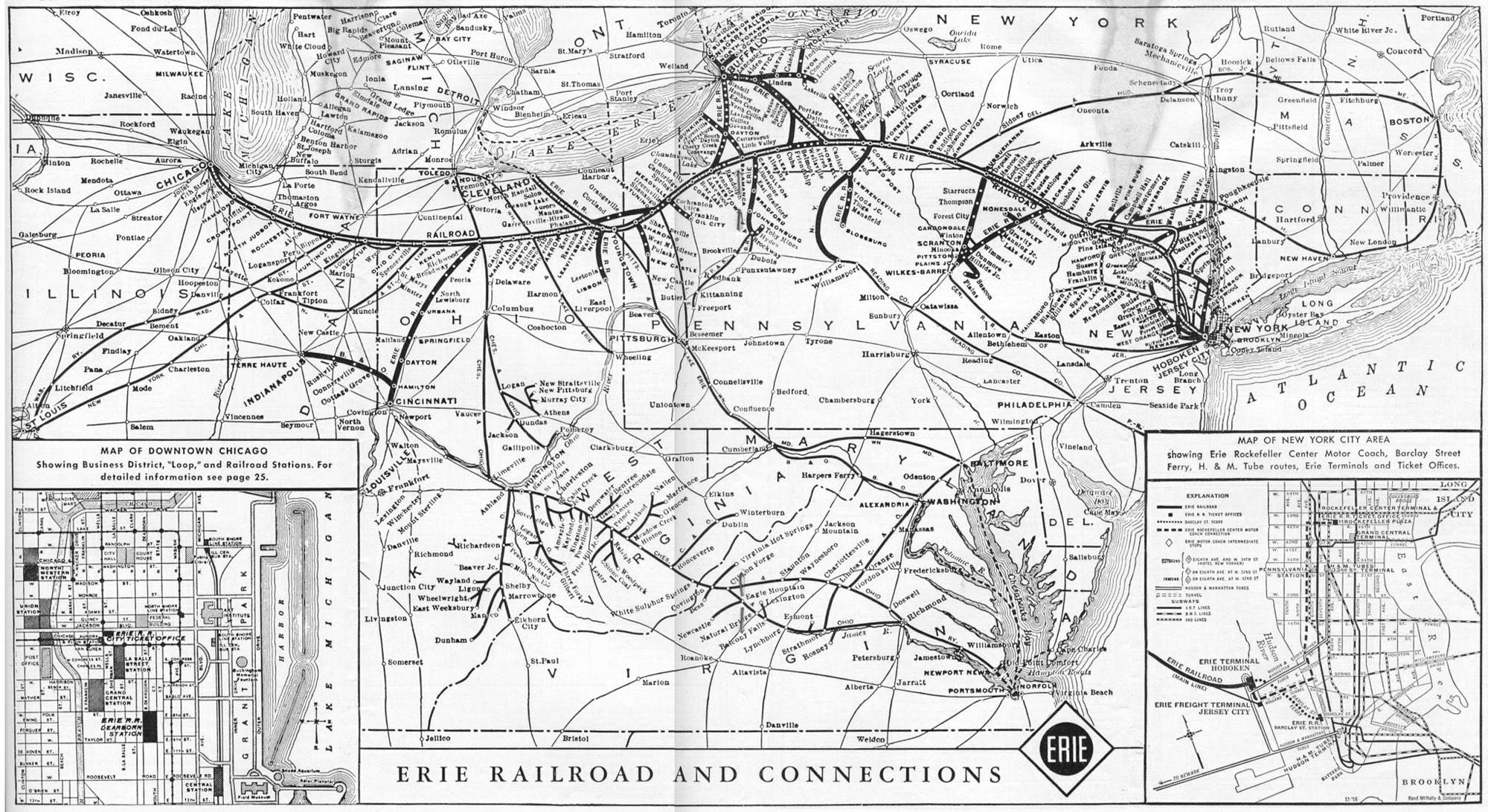 The Erie Railroads earliest history dates back to the 1830s and