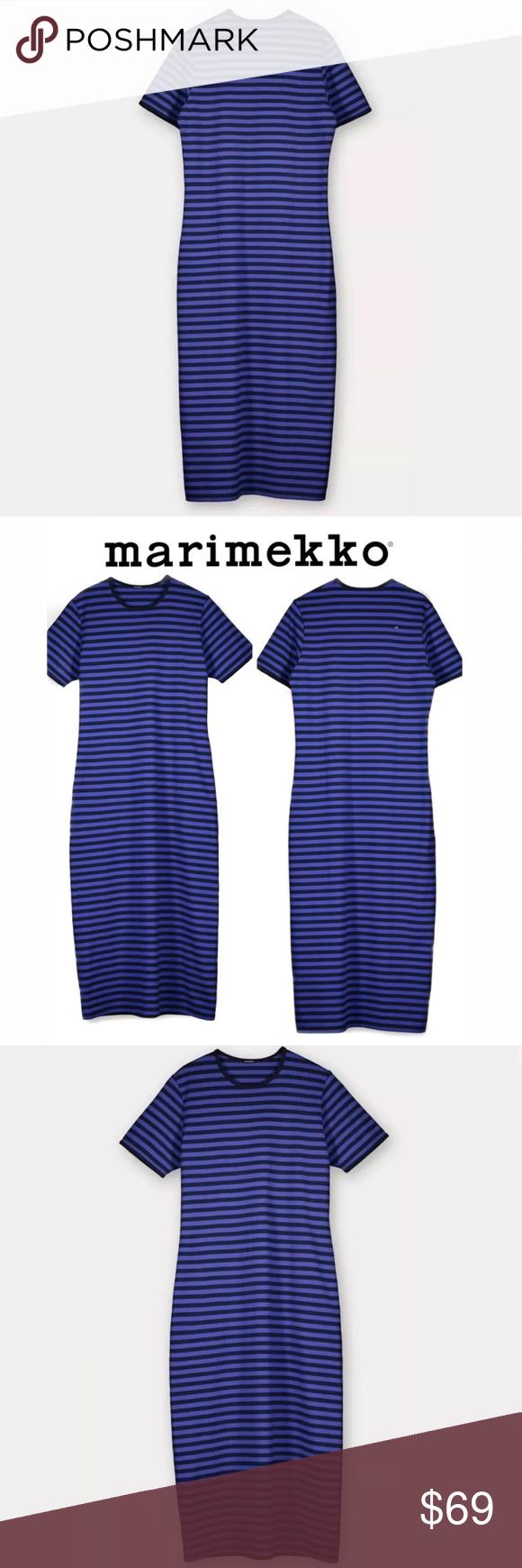 Marimekko hetta gown dress dark blue night gown xs in my posh