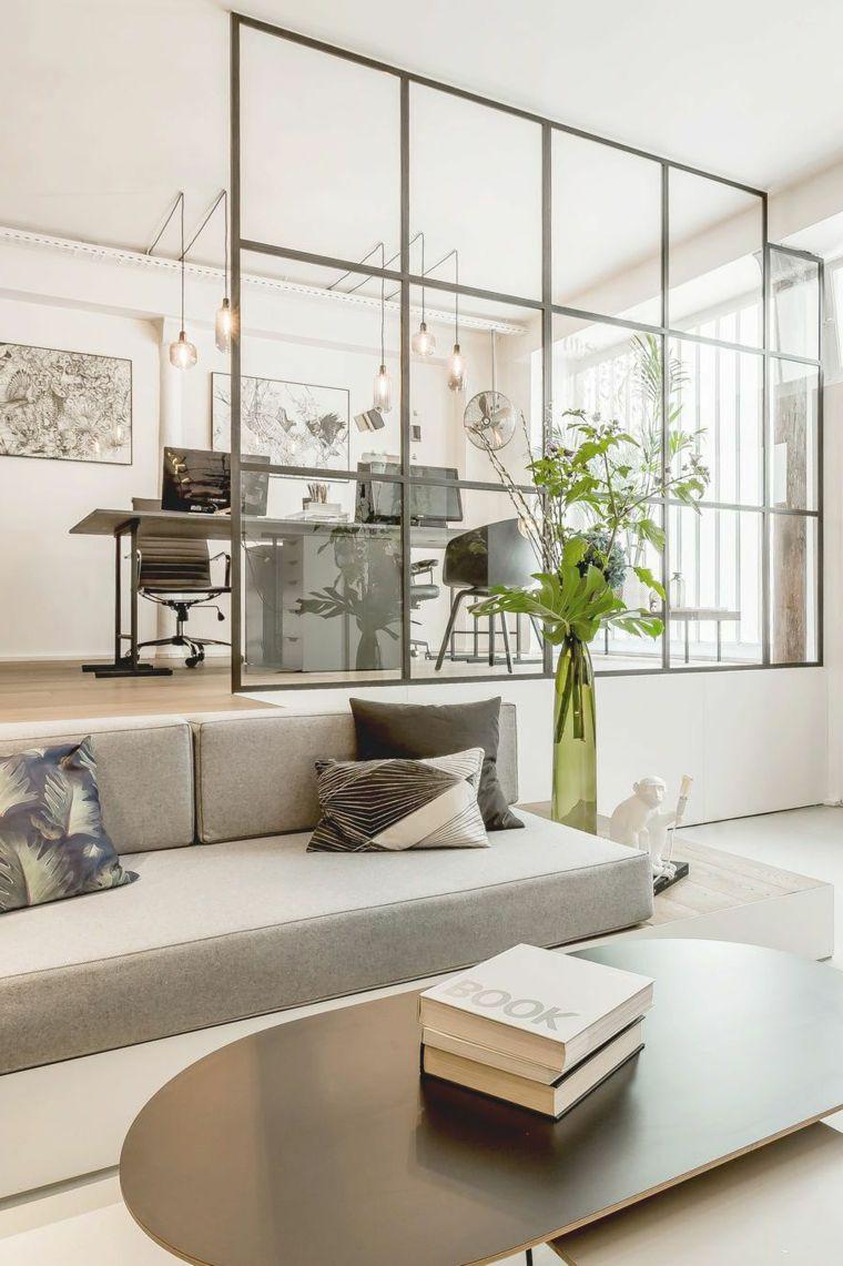 Salotti moderni e unidea di arredamento con divano grigio e ...