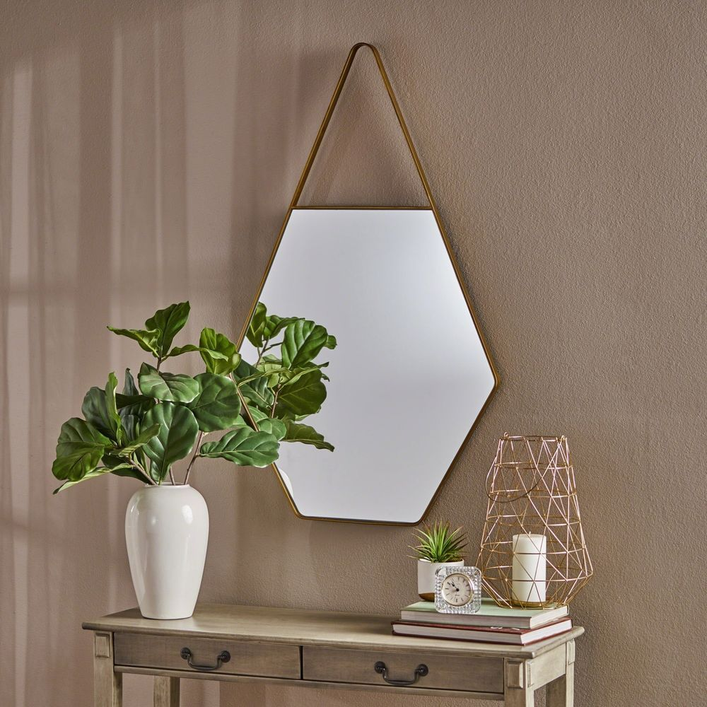 Penrose Water Drop Hexagonal Wall Mirror By Christopher