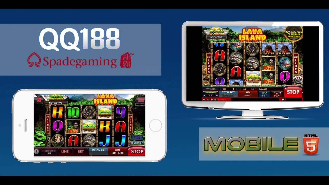Spade Gaming Lava Island Slot Mesin Jackpot Qq188 Html5 Lava Mesin