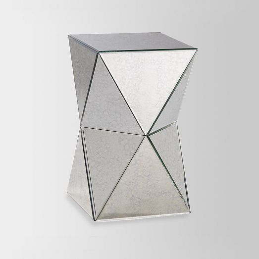 Faceted Mirror Side Table West Elm Home Inspiration Pinterest - West elm mirrored side table