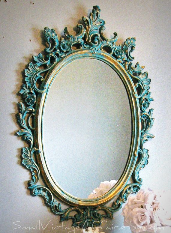 Rococo Accessories like this mirror became more rounded than squared during this era.
