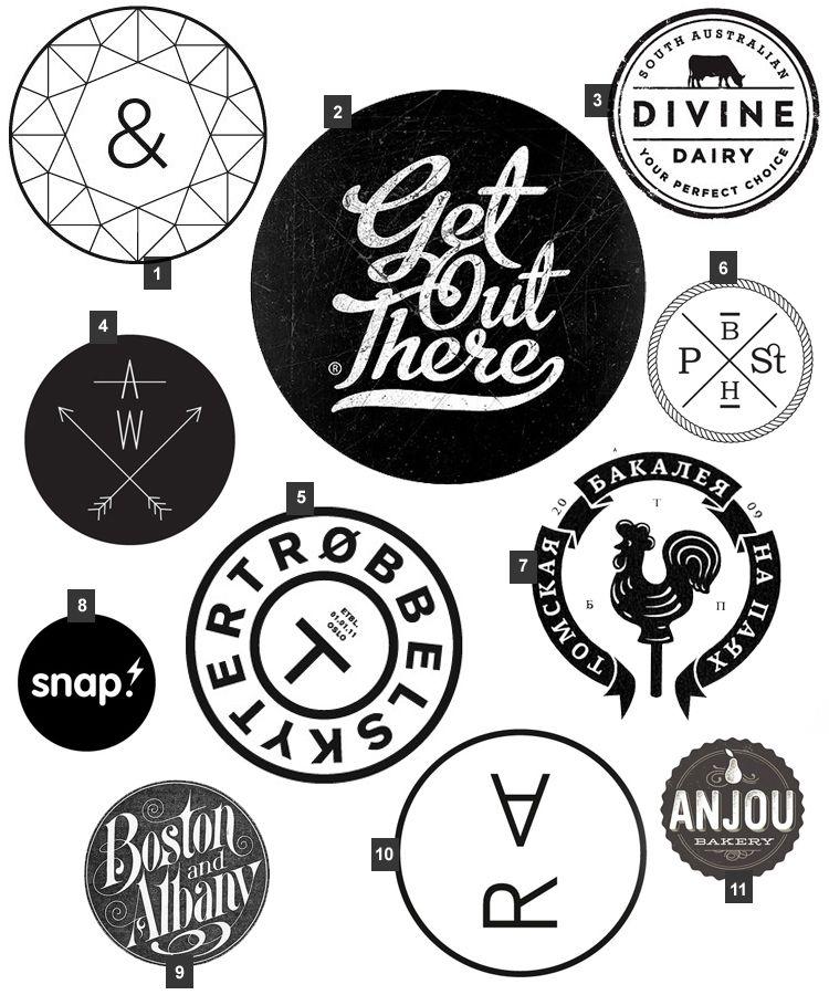 Black & White circle graphics. Via Veda House Design